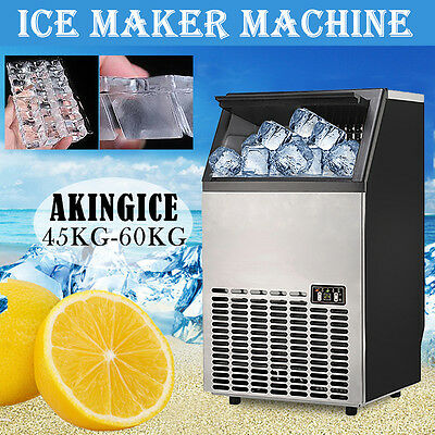 Built-In Countertop Stainless Steel Cube Bullet Ice Maker 99~130LBS/DAY Machine