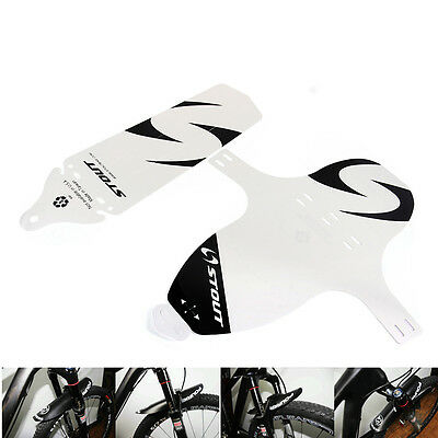 New Bicycle Cycling Front/rear Mud Guards Mud Set Mountain Bike Tire Fenders Wht