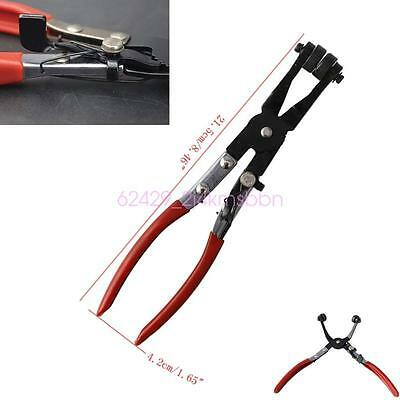 Car SUV Angled Swivel Jaw Locking Hose Clamp Fuel Coolant Hose Pipe Clips Plier