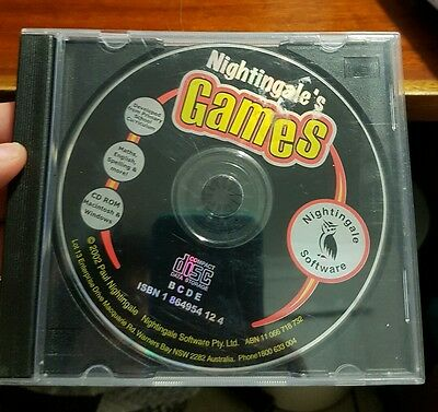 Nightingale's Games (disc only)  -  PC GAME - FREE POST