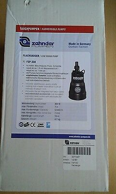 Zehnder fsp 330 Low Drain Flood Pump and electronic float switch