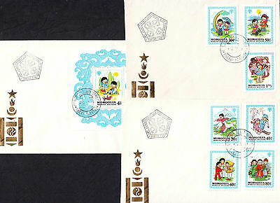 Mongolie Mongolia enveloppe premier jour first day cover 1980 Enfance IYC