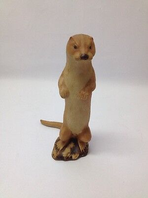 Stood Up Otter Vintage Purbeck Stoneware Pottery Figurine