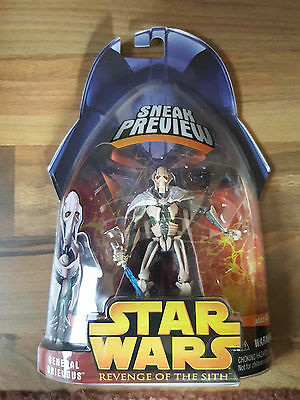 Star Wars General Grevious - Revenge of the Sith - Sneak Preview Figur , OVP