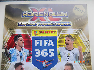 Panini 365 Adrenalyn XL 2017 Cards x 40 - all listed - Lot 7