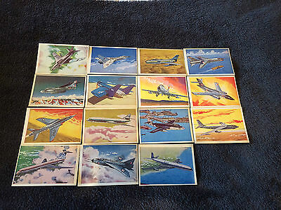 Master Vending Jet Aircraft Of The World 15 Very Good Cards