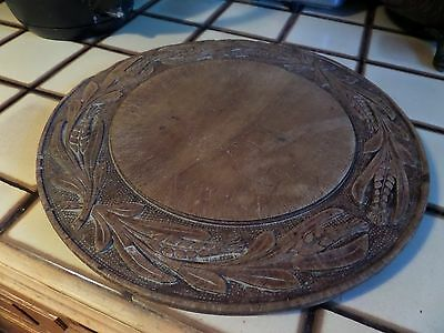 Antique Vintage Old Wooden Bread Board