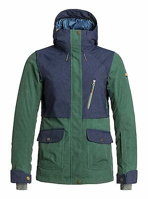 Roxy Tribe Women's Snowboard Jacket with biotherm - green - various sizes - BNWT