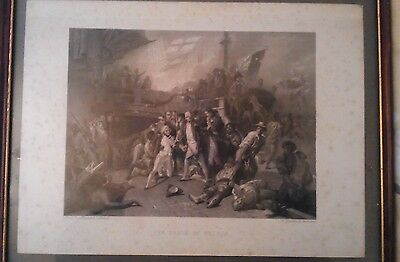 Antique Print - The Death Of Nelson W. Greatbach, Engraver