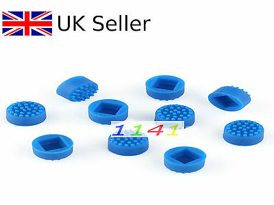 2pcs Blue Mouse Pointer TrackPoint Cap Nipple for HP COMPAQ Toshiba Laptop