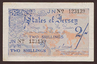 Ro.658b Jersey German Occupation 2 Shillings (1941-42) Pick 3 (3+)