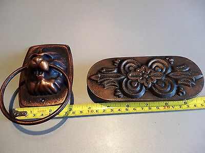 Cast Iron Antique Style Rustic LION HEAD Door Knocker-- from Russia