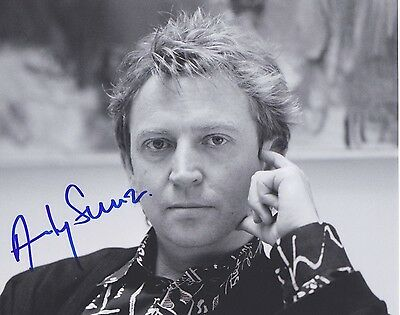Signed Original B&W Photo of Andy Summers of 1980's Music
