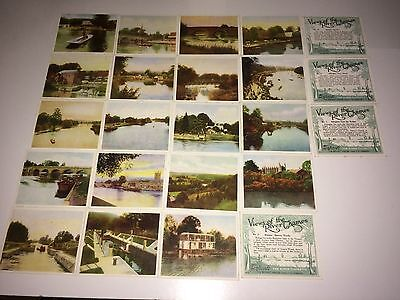 Hills Views Of The River Thames (Green & Blk Backs) 23 Very Good Cards
