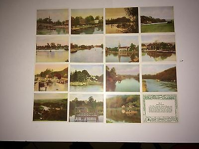 Hills The River Thames ( Green Back ) 15 V Good Cards