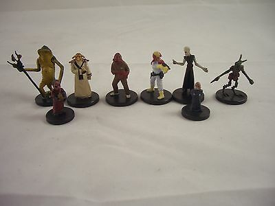 Star Wars Miniatures The Force Unleashed selection figures inc Verpine Tech