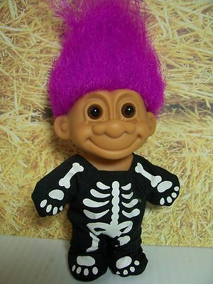 "HALLOWEEN SKELETON - 5"" Russ Troll Doll - NEW IN ORIGINAL WRAPPER - Rare"
