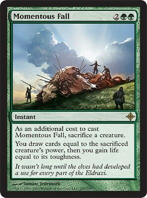 MTG: Momentous Fall - Green Rare - Rise of the Eldrazi - ROE - Magic Card