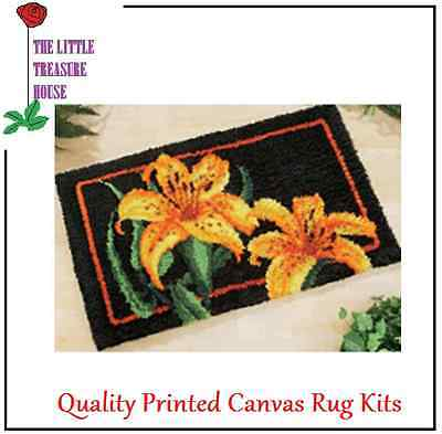 Daffodil Latch Hook Rug Kit Large size - *NEW* everything included