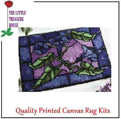 Stained glass style Latch Hook Rug Kit Large size - *NEW* everything included