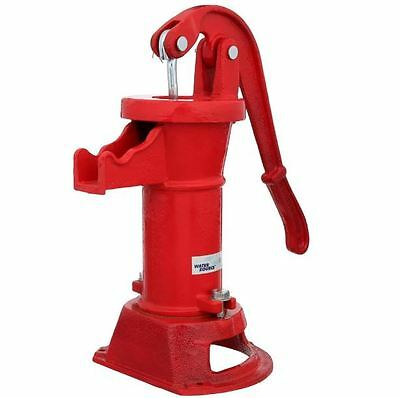 """Mechanical Pitcher Hand Pump Shallow Well 25' Lift 1.25"""" Pipe Low Lead Cast Iron"""