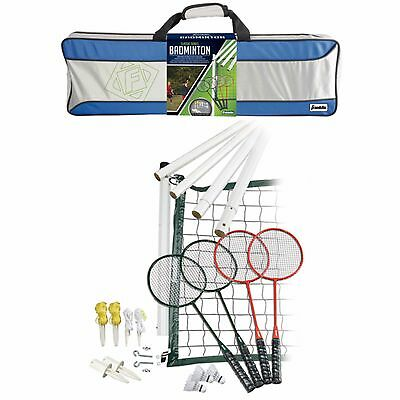 Franklin Sports Classic Series Carry Bag Outdoor 4-Player Athlete Badminton Set