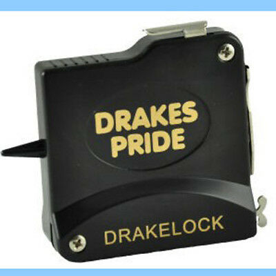 Drakes Pride Drakelock 10Ft Steel Black Bowls Measure. Free Postage.