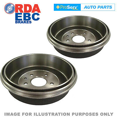Rear Pair Brake Drums Mitsubishi Triton Mk 2Wd 10/1996 - 9/2005