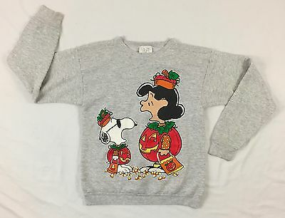 Vintage Peanuts Cartoon Sweater Sweatshirt Halloween Theme Snoopy & Lucy USA