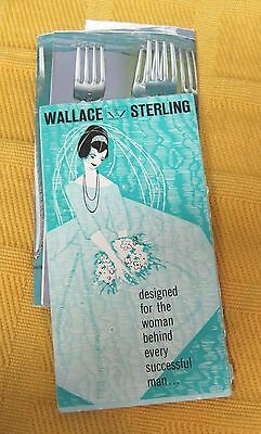 2 1960's Wallace Sterling Silver Flatware Brochures w Color Pictures T22