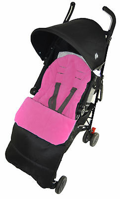 Footmuff / Cosy Toes Compatible with Mothercare Nanu Pushchair Pink Rose