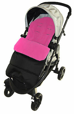 Footmuff / Cosy Toes Compatible with Joie Chrome  Pushchair Pink Rose