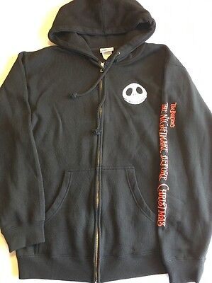 Tim Burton The Nightmare Before Christmas Hoodie Sweater Size Small
