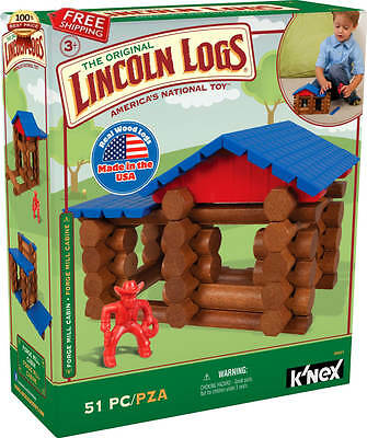 LINCOLN LOGS - Forge Mill Cabin - 51 Pieces - Ages 3+ - Preschool Educational To
