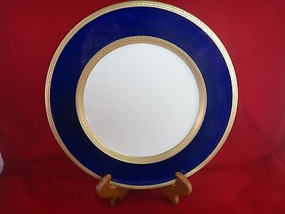 SYRACUSE CHINA OLD IVORY Cobalt / Gold QUEEN ANNE Dinner Plate(s)