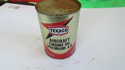 1979 Texaco Vintage Aircraft Engine Oil Can (full),Good, SAE30,Free Ship