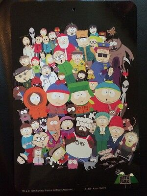 NEW RARE OOP South Park Character Tin Dated 1998 GREAT SHAPE!