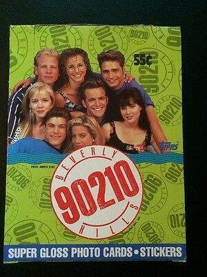 TOPPS FULL BOX New Kids On The Block Super Gloss Photo Trading Cards & Stickers!