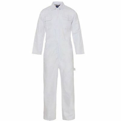 White Poly Cotton White Coverall Overalls Boiler Suit Painters Decorators 46R