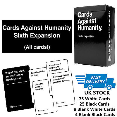 Cards Against Humanity: UK edition - Original Game, BRAND NEW SIXTH EXPANSION