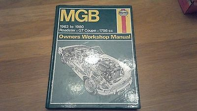 Haynes Workshop Manual for the MGB 1962-1980