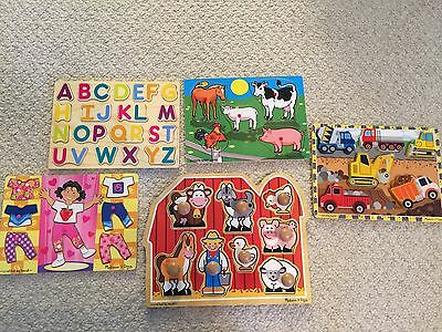 Four Melissa And Doug Puzzles And One Leap Year Puzzle