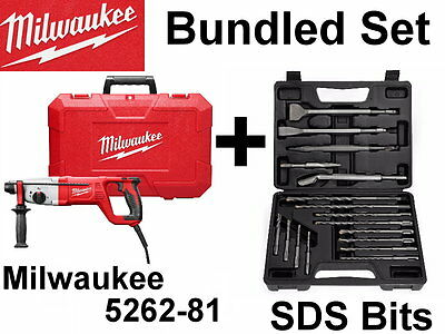 NEW  Milwaukee 5262-81 SDS PLUS Rotary HAMMER CHISEL DRILL, Bits or Kit Set