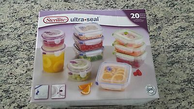 STERILITE Ultra-Seal 20 piece set Food Storage NEW 03068602