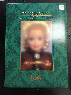 1996 Barbie Collectibles Holiday Caroler Holiday Porcelain Barbie Collection