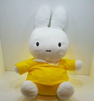 Miffy large 19 inch plush toy in yellow top Dick Bruna