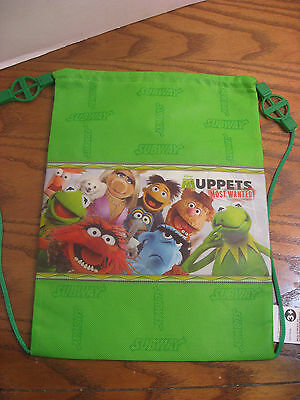 Muppets Most Wanted Subway Lunch Backpack Sling Bag w/Kermit & Characters- 2014