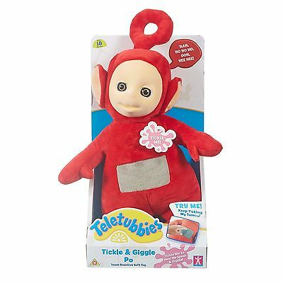 Teletubbies Laugh and Giggle Po Soft Toy Brand New