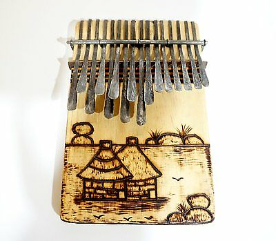 16 Key Mbira Thumb Piano Karimba Kalimba Handmde in Zim. Ships FAST from USA!