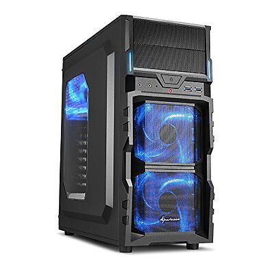 Sharkoon VG5-W ATX Computer Case with Large Acrylic Side Window and 120 mm LED F